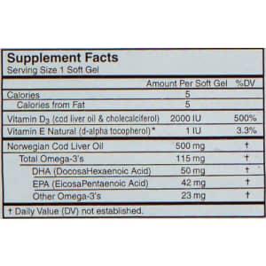 Carlson Labs Solar D Gems Natural Vitamin D3, 2000 IU, 120 Softgels for $13