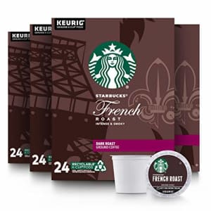 Starbucks Dark Roast K-Cup Coffee Pods French Roast for Keurig Brewers (24 Count (Pack of 4)) for $49