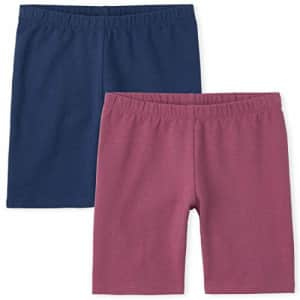 The Children's Place Girls Bike Shorts 2-Pack, Malaga Rose, Large for $8