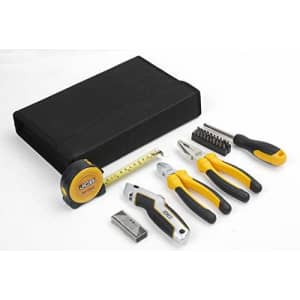 JCB - 26 Piece Tool Kit | Includes Screwdriver & Bits, Pliers, Retractable Knife, Tape Measure And for $43