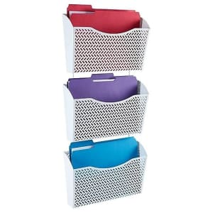 Staples Zigzag 3-Pocket Metal Wall File for $26
