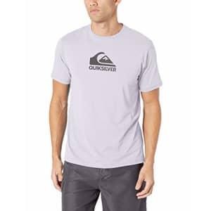 Quiksilver Men's Solid Streak Short Sleeve Rashguard UPF 50+ Sun Protection, White, L for $35