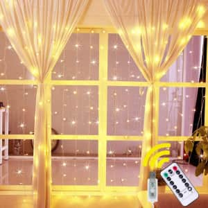 Ollny Window Curtain String Lights for $8
