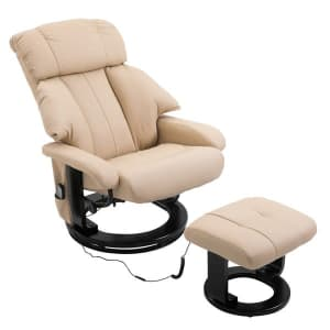 HomCom Swivel Recliner and Ottoman for $243