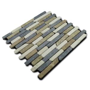"Miseno 12"" x 12"" Strip Mosaic Natural Stone Tile 11-Pc. Carton for $59"