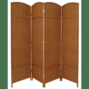 Oriental Furniture Diamond Weave 6-Foot 4-Panel Room Divider for $92