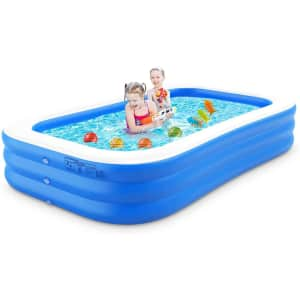 """Rimdoc 118"""" Inflatable Swimming Pool for $24"""