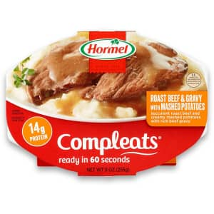 Hormel Compleats Roast Beef and Gravy with Mashed Potatoes 6-Pack for $12