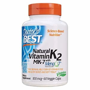Doctor's Best Natural Vitamin K2 Mk-7 with MenaQ7, no Flavor, 60 Count for $14