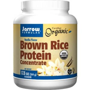 Jarrow Formulas Brown Rice Protein Concentrate, Vanilla Flavor, 17.8 Ounce for $19
