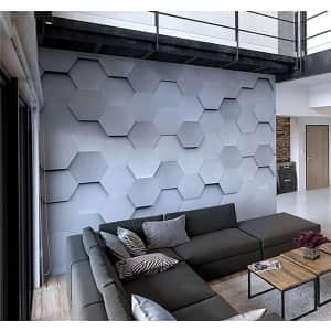 OhPopsi 10x8-Foot Metal Hexagons Wall Mural for $56