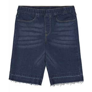 Calvin Klein Girls' Bermuda Denim Shorts, Super Soft Stretch Fabric, Functional Pockets, Zipper for $16