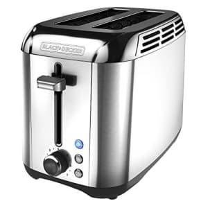 Black + Decker Black+Decker TR3500SD Bread toaster, Stainless Steel for $35