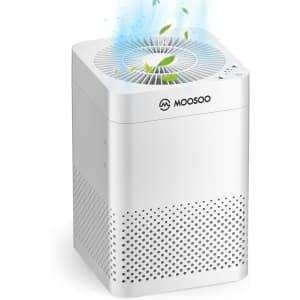Moosoo HEPA Air Purifier for $50