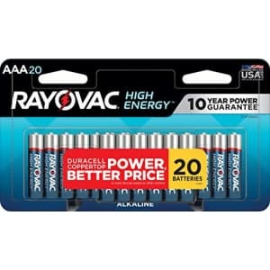 Rayovac AAA Batteries, Alkaline Triple A Batteries (20 Battery Count) for $11