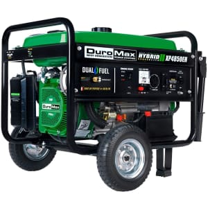 DuroMax 3,850W Dual-Fuel Portable Generator for $599