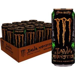 Monster Energy Java Monster Kona Blend, Coffee + Energy Drink, 15 Ounce (Pack of 12) for $30