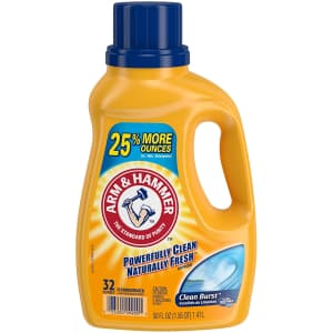 Arm & Hammer Clean Burst Liquid Laundry Detergent for $3