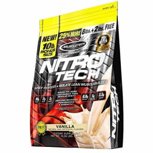 Whey Protein Powder + Creatine Monohydrate   MuscleTech Nitro-Tech Whey Isolate + Peptides   Whey for $115