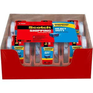 Scotch Heavy Duty Shipping Packaging Tape 6-Pack w/ Dispenser for $13