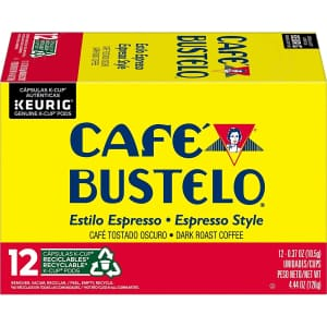 Cafe Bustelo Espresso Style 72-Count K-Cup Pods for $31
