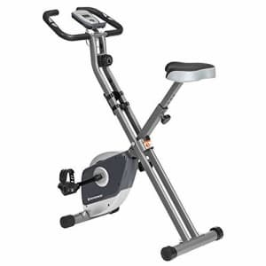SONGMICS Exercise Bike, Foldable Indoor Cycling Bike for Fitness Workout, Phone Holder, 220 lb Max. for $100