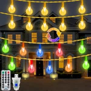 Ollny 49-Ft. LED Fairy Twinkle Globe String Lights for $11
