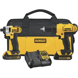 DeWalt 20V Max Cordless Lithium-Ion Drill Driver and Impact Driver Combo Kit for $139