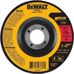 """DeWalt 4-1/2"""" Cut-Off Wheel for $1"""