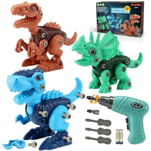 Free to Fly Take Apart Dinosaur Toy 3-Pack for $10