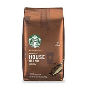 Starbucks Medium Roast Ground Coffee House Blend 100% Arabica 1 bag (28 oz.) for $16