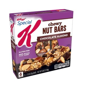 Special K Chewy Nut Bars 6-Count Box 8-Pack for $16