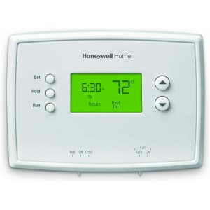 Honeywell 5-2 Day Programmable Backlit Thermostat for $14