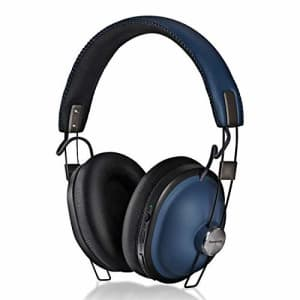 Panasonic Retro Noise Cancelling Bluetooth Wireless Headphone with Voice Assist, Microphone, Deep for $60