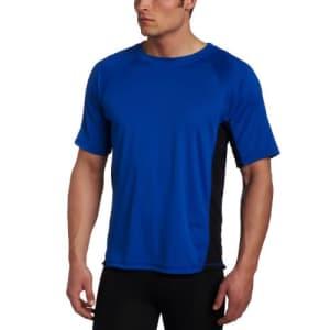 Kanu Surf Men's CB Rashguard UPF 50+ Swim Shirt (Regular & Extended Sizes), Royal, 4X for $22