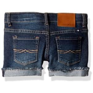 Lucky Brand Girls' Big 5-Pocket Cuffed Stretch Denim Shorts, Riley Barrier wash, 7 for $22