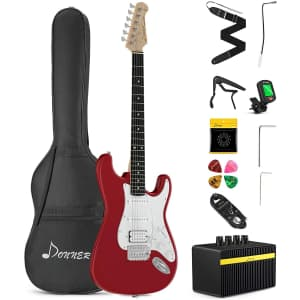 Donner Electric Guitar Kit with Amplifier for $170