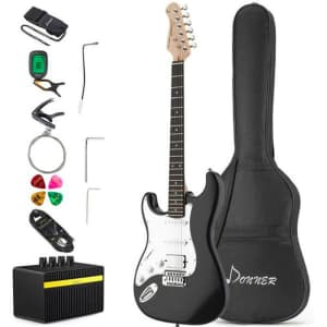 Donner Left Handed Electric Guitar Kit for $126