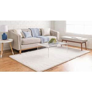 Unique Loom Davos Collection Modern Luxuriously Soft & Cozy Shag Area Rug, 8' 0 x 10' 0 for $101