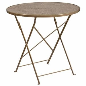 Flash Furniture 30RD Gold Folding Patio Table for $70