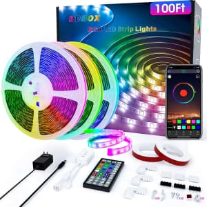 DDBox 100-Ft. RGB LED Strip Light for $20