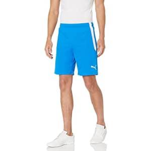 PUMA Men's TeamLIGA Shorts, Electric Blue Lemonade/White, XL for $19