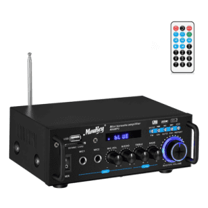 Moukey 2-Channel Bluetooth Amplifier for $21