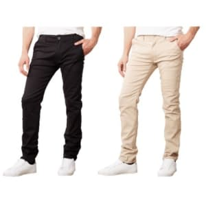 Men's Cotton Stretch Slim-Fit Chinos: 2 for $35