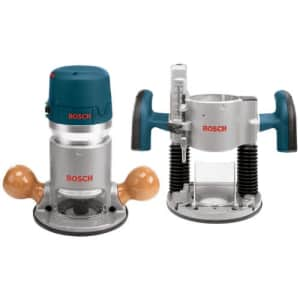Bosch 12A Plunge and Fixed-Base Router Kit for $204
