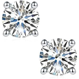 Jansme 0.6-TCW Moissanite Diamond Stud Earrings for $20