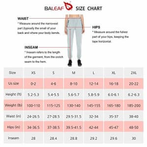 BALEAF EVO Women's Athletic Joggers Drifit Workout Outdoor Pants Zippered Pockets Light Weight Yoga for $27