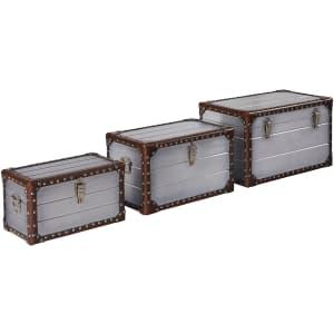 Stone & Beam Mid-Century 3-Piece Storage Trunk Set for $115