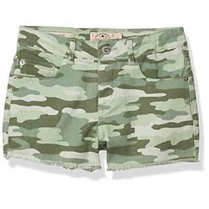 Lucky Brand Girls Shorts, Clarissa Camo Green Bay, 16 Big Kids for $27