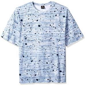 Southpole Men's All Over Print Short Sleeve T-Shirt, Navy Splat, Medium for $14